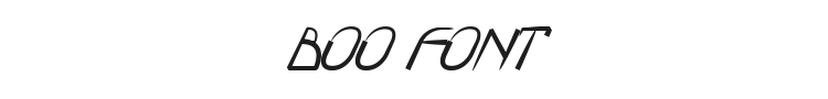 Boo Font Preview