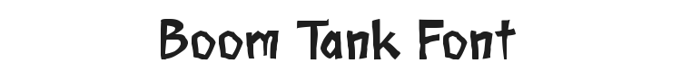 Boom Tank Font Preview