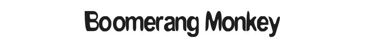 Boomerang Monkey Font Preview