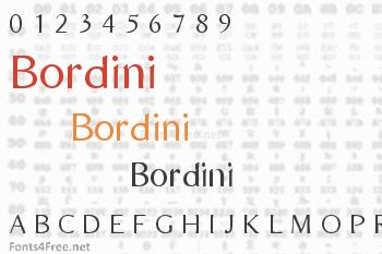 Bordini Font
