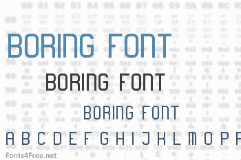 Download free font boring boring.