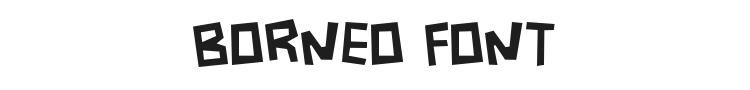 Borneo Font Preview