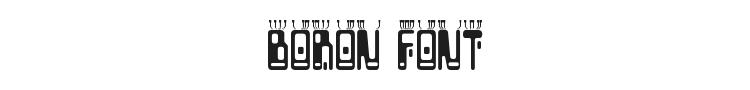 Boron Font Preview