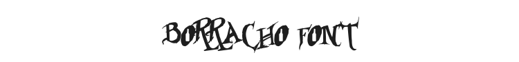 Borracho Font Preview