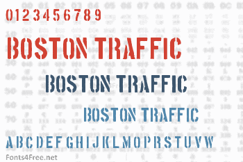 Boston Traffic Font