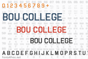 Bou College Font