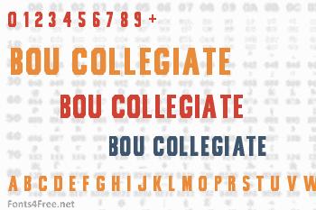 Bou Collegiate Font