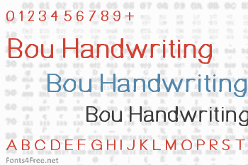 Bou Handwriting Font