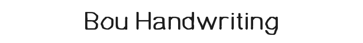 Bou Handwriting Font