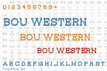 Bou Western Font
