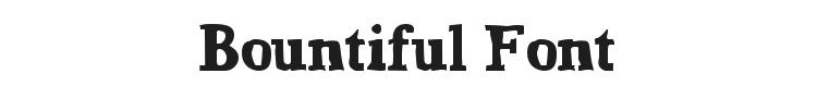 Bountiful Font