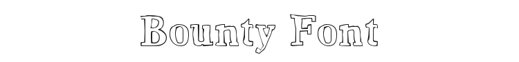 Bounty Font Preview