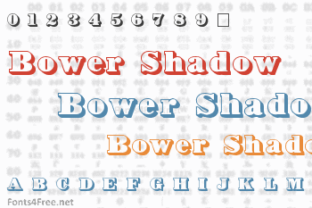 Bower Shadow Font