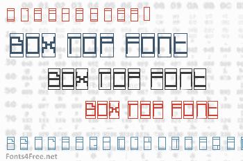 Box Top Font