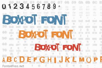 Boxpot Font