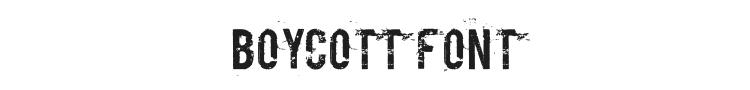 Boycott Font