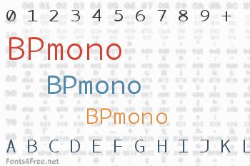 BPmono Font
