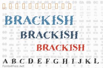 Brackish Font