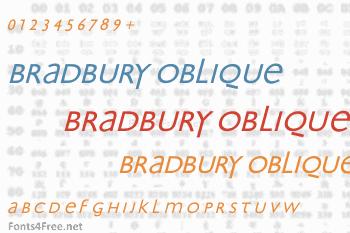 Bradbury Oblique Font