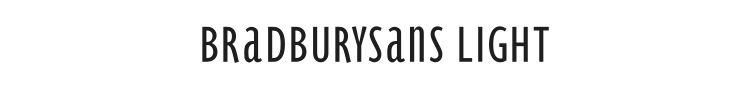 BradburySans Light Font