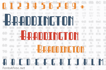 Braddington Font