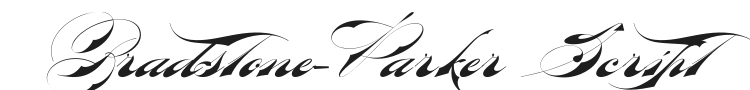 Bradstone-Parker Script Font Preview