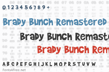 Brady Bunch Remastered Font