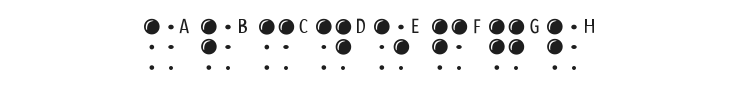 Braille Latin Font Preview