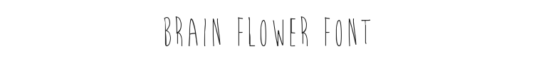 Brain Flower Font Preview