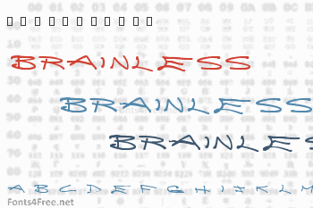 Brainless Thoughts Font