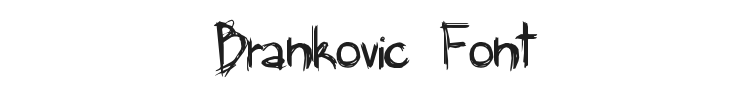 Brankovic Font Preview