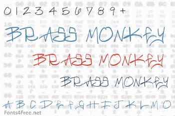 Brass Monkey Font