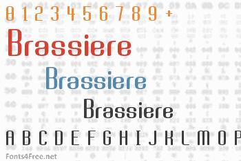 Brassiere Font