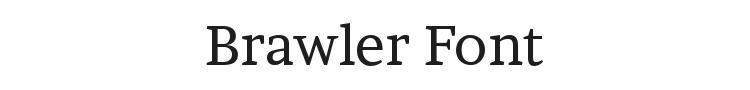 Brawler Font Preview