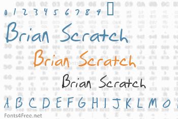 Brian Scratch Font