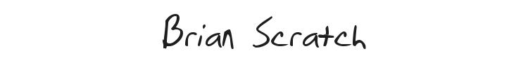Brian Scratch Font Preview