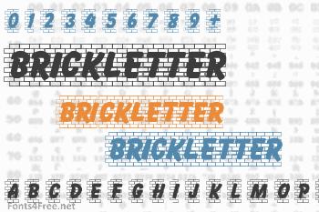 Brickletter Font