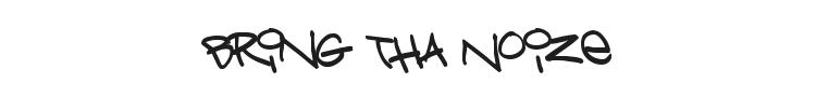 Bring Tha Noize Font Preview