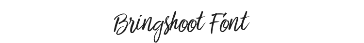 Bringshoot Font Preview