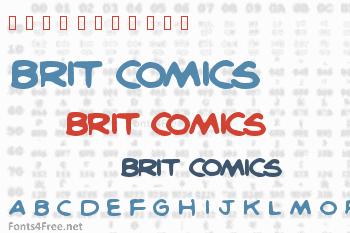 Brit Comics Font