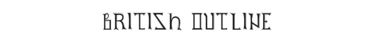 British Outline Majuscules Font Preview