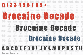 Brocaine Decade Font