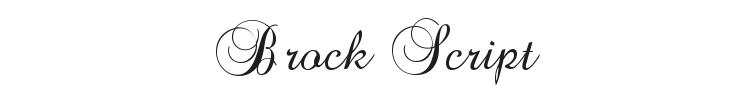 Brock Script Font
