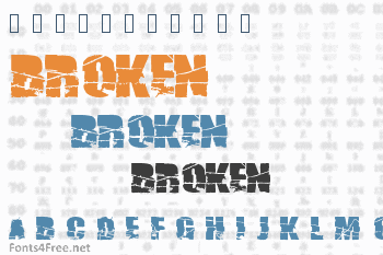 Broken 74 Font