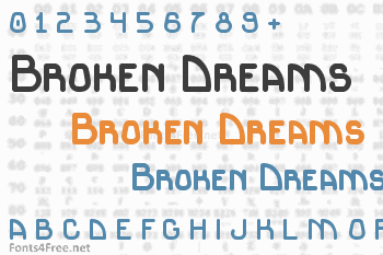 Broken Dreams Font
