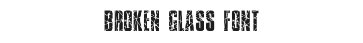 Broken Glass Font Preview