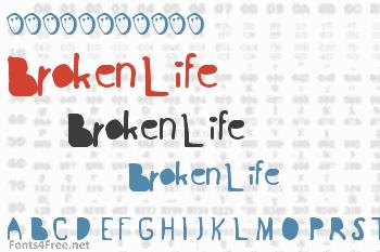 Broken Life Font