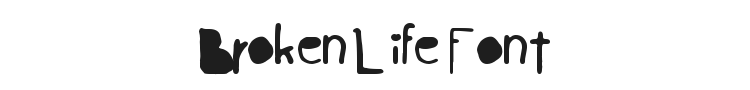 Broken Life Font Preview