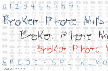 Broken Phone Nails Font