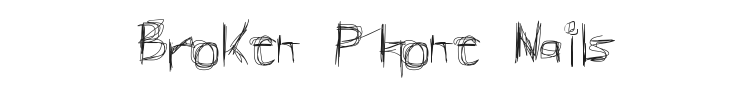 Broken Phone Nails Font Preview